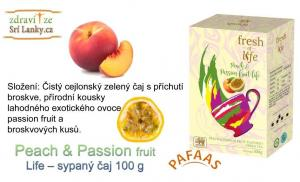 Peach & Passion fruit Life – sypaný čaj 100 g