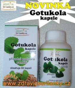 Gotukola - ve formě 60 kapslí (Gotu Kola)