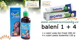 Sada 1 x Oxifresh 200 ml + 4 x Sudantha  120 g
